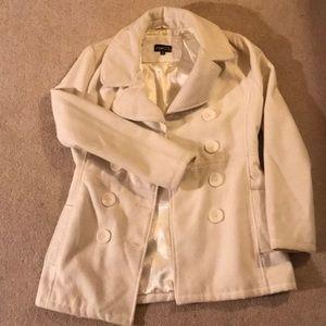 Rue21 white pea coat